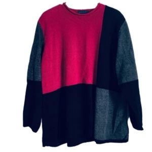 ☃️ GORGEOUS CHENILLE COLOR BLOCK SWEATER